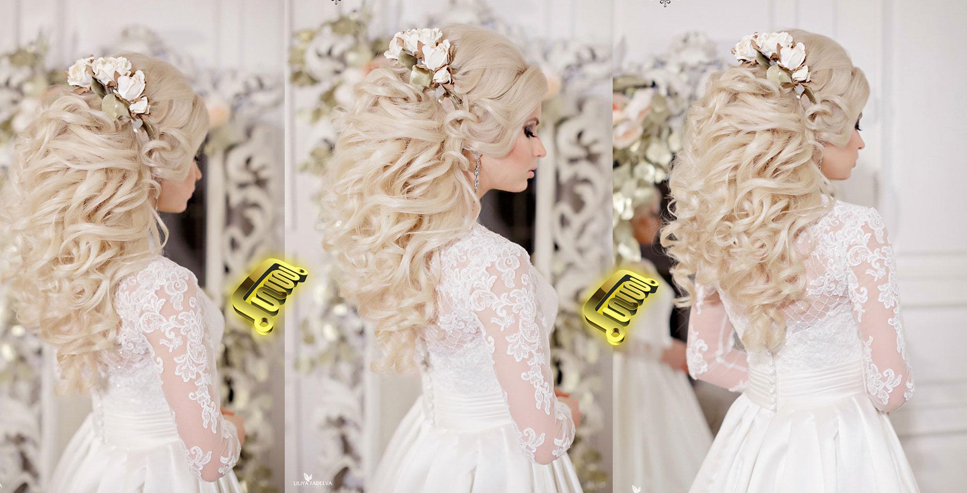 Причёски для невесты с накладными волосами